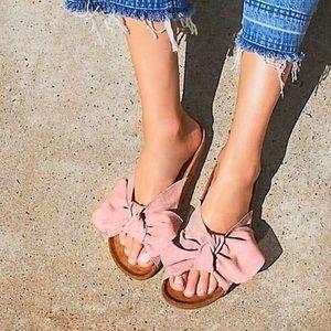 Jeffrey Campbell Rotuma Suede Blush Sandals 🎀
